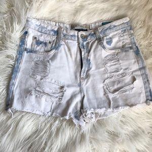 Zara Super Distressed Festival Shorts